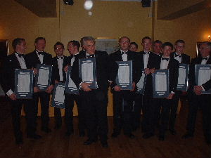 Members of Winning 24 Hour Race team 2003
