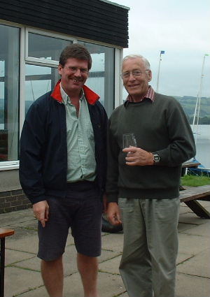 Overall winner Ray Young with OD William Carruthers