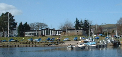 Clubhouse and dinghy park
