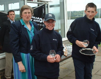 Winning Mirror helm and crew G Hughes and N Evans from Hollingworth